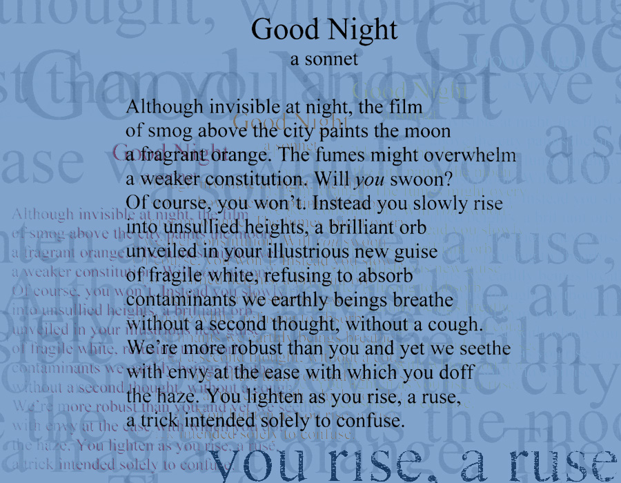 Urdu Love Poetry For Her Good night, a sonnet
